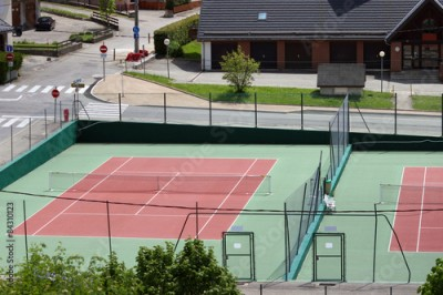 Obraz Two tennis courts