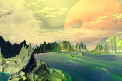 Plakat Fantasy alien planet.