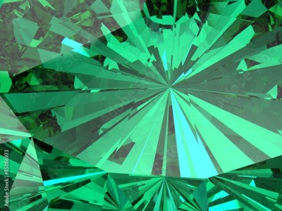 Fototapeta perfect emerald isolated on a white background