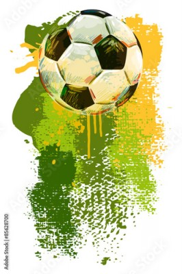 Plakat Soccer ball Banner. All elements are in separate layers and grouped.