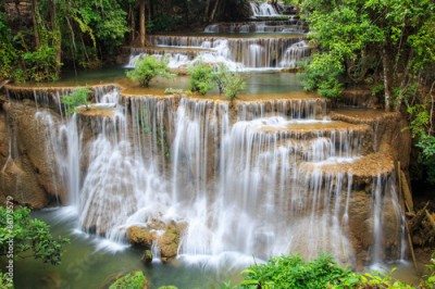 Obraz Huai Mae Khamin waterfall in deep forest, Thailand