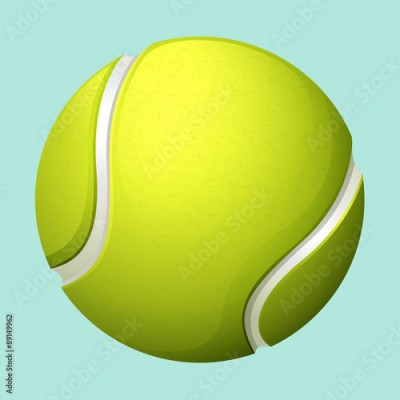 Obraz Tennis ball on green