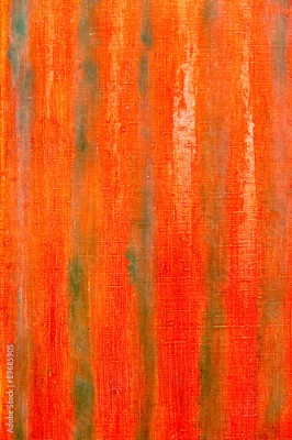 Fototapeta grunge hand painted red canvas background