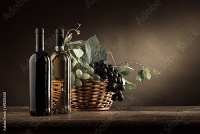 Obraz Wine tasting and fruit still life