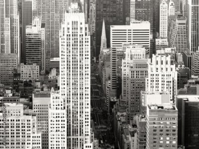 Fototapeta Black and white view of New York City