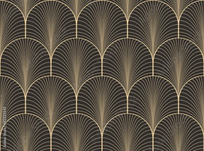 Fototapeta Vintage antique palette seamless art deco wallpaper pattern vector