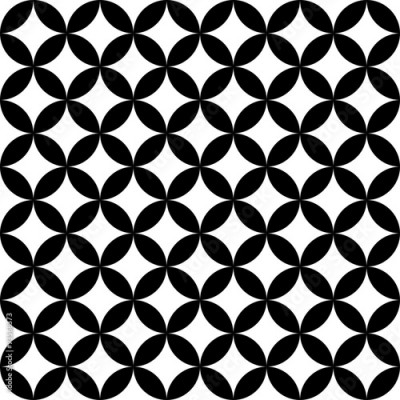 Panel Szklany Vector modern seamless geometry pattern, black and white abstract geometric background, trendy print, monochrome retro texture, hipster fashion design