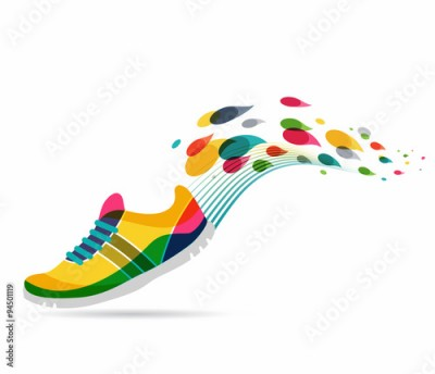 Fototapeta Vector poster - running and sport