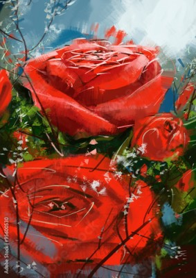 Obraz roses red - Stock Image
