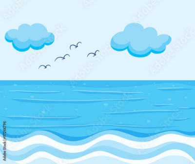 Fototapeta Nature scene with blue ocean