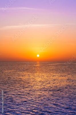 Obraz Beautiful sunset above the sea. Scenic view of beautiful sunset