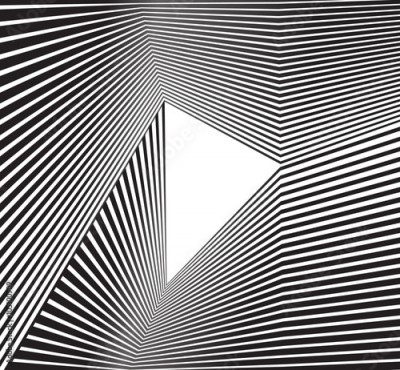 Obraz black and white mobious wave stripe optical abstract design