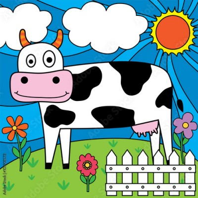 Obraz dairy cow design