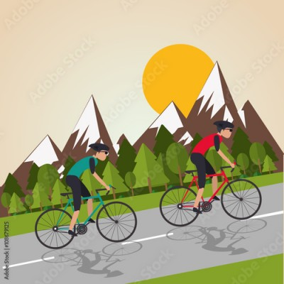 Obraz Flat illustration of bike lifesyle design