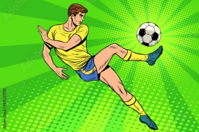 Fototapeta Football has a soccer ball summer sports games
