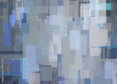 Fototapeta Gray Blue Abstract Geometric Painting