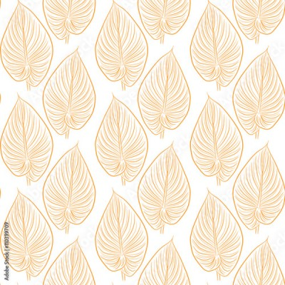 Obraz Yellow leaves imprint for application