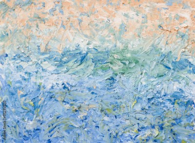Obraz na płótnie Summer abstract oil painting background.  Palette knife oil paint.