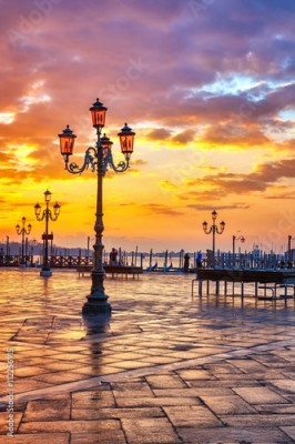 Obraz Piazza San Marco at sunrise, Vinice, Italy