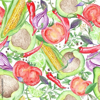 Fototapeta Vegetarian Vegetable Pattern