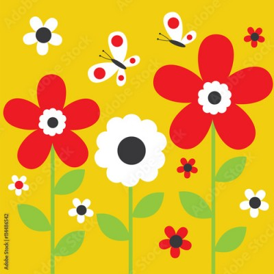 Obraz Floral background with cute flower