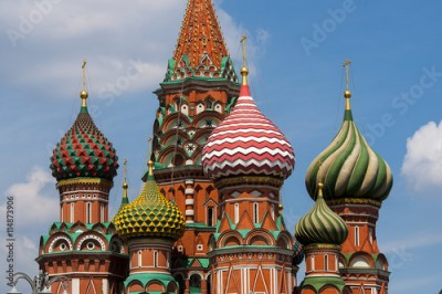 Fototapeta Basil's cathedral at the Red square in Moscow