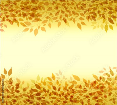 Obraz Autumn background branches and leaves