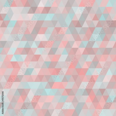Fototapeta Geometric background with triangles. Random colors