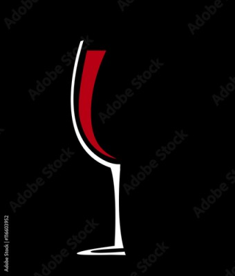 Obraz Wine glass icon