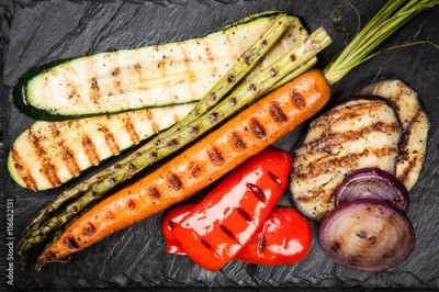 Obraz na Szkle Assortment of grilled vegetables