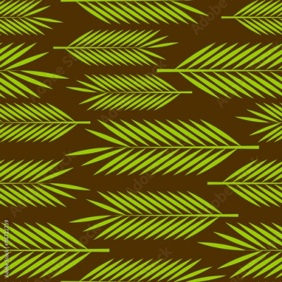 Obraz Seamless pattern with palm leaves ornament