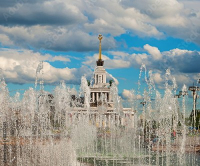 Fototapeta The fountain at the Exhibition of Economic Achievements in Moscow