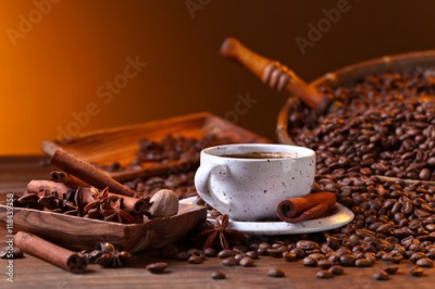Fototapeta  coffee and spices