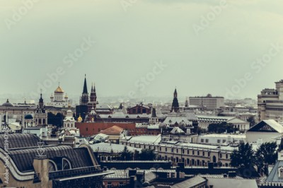 Fototapeta Roofs in the historic centre of the city of Moscow
