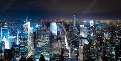 Fototapeta New York Manhattan bei Nacht Skyline