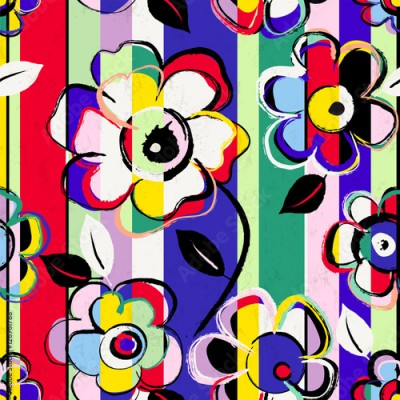 Obraz abstract flower background composition, vector