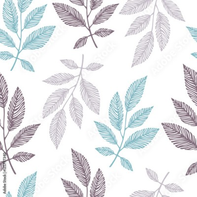 Fototapeta Seamless pattern with hand drawn branches.