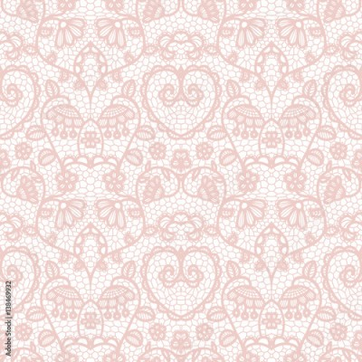 Fototapeta Lace seamless pattern with flowers