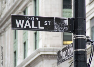 Fototapeta Wall street direction sign