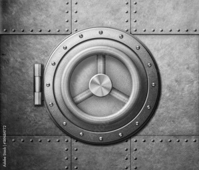 Fototapeta metal safe door icon 3d illustration