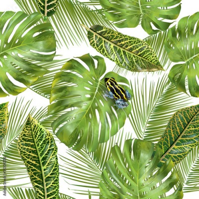 Fototapeta Tropical leaves pattern