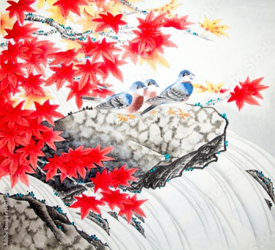 Obraz Chinese traditional painting of birds