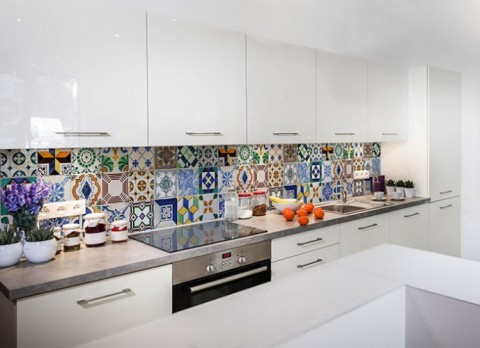 fototapety do kuchni laminowane pod szafki na wymiar